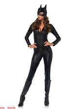 SEXY Completo Costume Crime Fighter Catgirl Tuta Cintura Maschera Carnevale GLAM