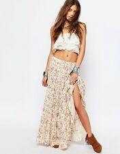 Denim & Supply RALPH LAUREN Women's New beige Floral peasant boho Maxi Skirt S,L
