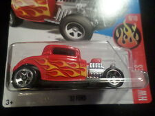 HW HOT WHEELS 2017 HW FLAMES #6/10 '32 FORD RED HOTWHEELS VHTF