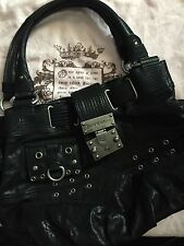 Juicy Couture Black Leather Purse Medium Large