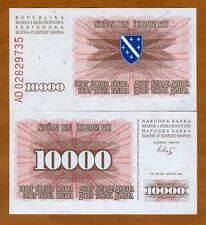 Bosnia-Herzegovina, 10000 (10,000)  Dinara, 1993, P-17, Bosnian War Issue UNC