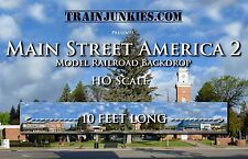"TrainJunkies ""Main Street America 2"" HO scale backdrop 120x18"" Brand New C-10"