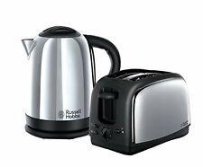 Russell Hobbs 21830 Lincoln Twin Pack Kettle and 2 Slice Toaster - Polished Stai