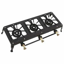 7.5Kw Triple Cast Iron Gas Boiling Ring Burner Catering Camping Stove Propane