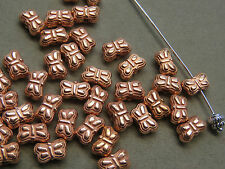 25 Copper Butterfly 9x6mm  Acrylic  Beads(G118i59)