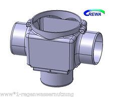 Zisternenfilter Regenwasserfilter F100L mit Kunststoffspaltsieb und Zulauftopf