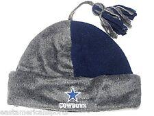 Dallas Cowboys NFL Youth 52 cm Hat Knit Cap Fleece Beanie w/ Tassel Cuffed Boys