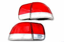96-98 Honda Civic EK 4 door Si Red Clear Frosted Tail lights Sedan 4pc EX LX DX
