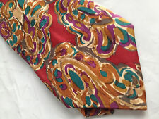 Mens Red Green Orange SILK Tie Necktie GILBERT & LODGE ~ FREE US SHIP (7414)
