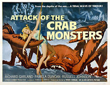Attack Of The Crab Monsters B Movie Poster A3 reprint