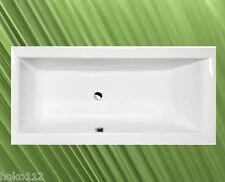 Badewanne CLEO 180cm x 90cm, 48cm tief mit Wannenfüßen und Wandankern