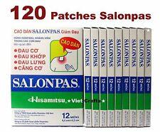 120 Salonpas Hisamitsu Pain Relief HEAT Patches 6.5x4.2cm - Backache arthritic