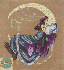 Cross Stitch Chart / Pattern ~ Mirabilia Crescent Moon Flowers Woman #MD137