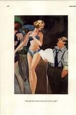 Risque Esquire '30's Unemployed Crooner Hire ~ Overdressed For Script Cartoon
