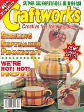 CRAFTWORKS CRAFT MAGAZINE SEPTEMBER 1997 ISSUE #117 SCARECROW BEAR PAINTING, SEW