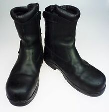 Mens 9.5M Thorogood Steel Toe Boots Black Waterproof Inside Zip