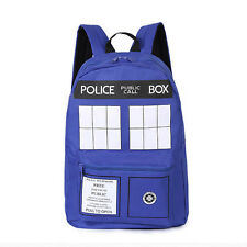 Doctor Who Tardis Police Box Dr Who Backpack Mens Shoulder Bag Oxford Rucksack