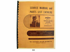 Cincinnati Milling Machine # 0-8 Models EA & OT Service Manual Parts List *823