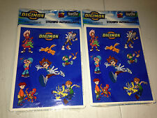 Hallmark Stickers Digimon Patamon Agumon Palmon + More 8 sheets 2 packages