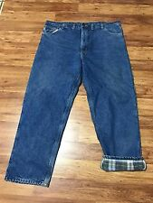 Mens Carhartt B21 Denim Flannel Lined Industrial Work Winter Pants 44 X 32 USA