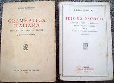 1934 BRUNO MIGLIORINI DA ROVIGO E RENZO CRISTIANI LOTTO DI 2 LIBRI DI GRAMMATICA
