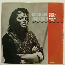 "Michael Jackson I Just Can't Stop Loving You Single 7"" UK 1987"