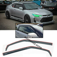 For 11-17 Scion TC Gen1 JDM Side Door Window Visors Rain Guard In-Channel Vent