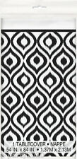 MOROCCAN IKAT PLASTIC TABLE COVER ~ Birthday Party Supplies Decorations Pattern