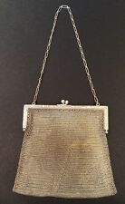 Antique 1920s Whiting & Davis Co. Soldered Mesh Silverplate Coin Purse EUC