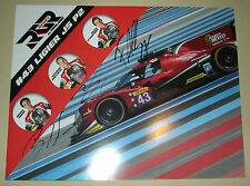 Le Mans FIA WEC 2016 Silverstone RGR Sport By Morand 1st LMP2 Class Signed Card-