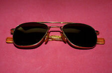 Vintage AO American Optical 5 1/2 Pilot Aviator Military Sunglasses Glasses