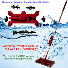 Cordless Sweeper Max G8 Red with Swivel RCR technology  Remove Clean Reuse Washa
