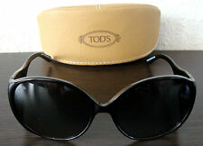 TOD'S TO 0055 01B Luxus Damen Sonnenbrille Brille Sunglasses Black NEU mit ETUI