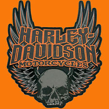 HARLEY DAVIDSON GOTHIC SKULL WINGS 11 5/8 INCH (XXL) HARLEY PATCH