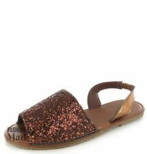 WOMENS LADIES SUMMER MENORCAN SANDALS SLING BACK FLIP FLOP BEACH SHOES SIZE
