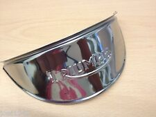 TRIUMPH STAINLESS STEEL HEADLIGHT PEAK. TRIUMPH LOGO EMBOSSED ONTO LIP. NEW