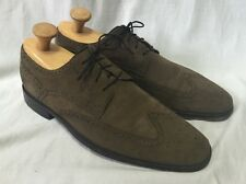 Cole Haan Suede Wingtips Oxfords Men's 11M Army Green Leather C10510 Brogue