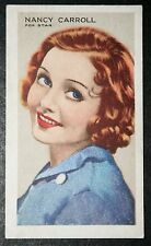 Nancy Carroll     Vintage Film Star  Portrait Card  VGC