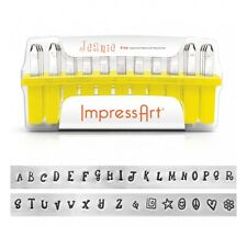 ImpressArt Jeanie Uppercase Letter Metal Stamps Starter Kit Jewelry Punch Set