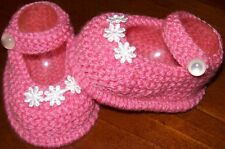 HAND KNITTED MARY JANE BOOTIES TO FIT BABY / REBORN BRAND  NEW
