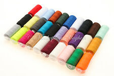 POLYESTER SEWING THREAD - 120s - ASSORTED / MIXED COLOURS - 30 x 500 yard SPOOLS