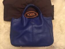 Authentic Tod's Shopping Large Tote Blue Leather RRP £870 With Original Dust Bag