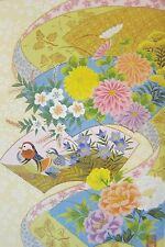 Japanese Blank Greeting Card Ducks and Flowers