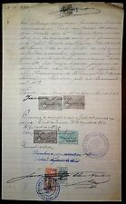 Portugal 1914 document with many revenue stamps