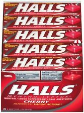 Halls Drops, Cherry, 9 Ct, 20 Sticks (Pack of 24)
