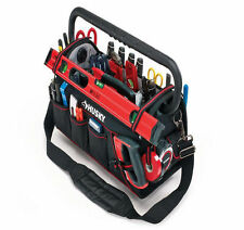 Husky 20in Pro Electrician Heavy Duty Tool Bag Tote Storage with Pull out Tray