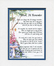 #4 Mother's Day gift present keepsake thank you poem for mom, mother. birthday