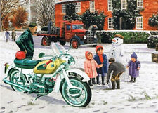 Ariel Arrow British Rockers 1960s Motorbike Motorcycle Christmas Card
