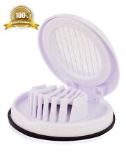 Hard Boiled Egg Slicer Slicers Cutter Compact Kitchen Tools and Gadgets White