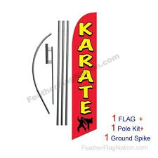 Karate Feather Banner Swooper Flag Kit with pole+spike
